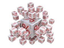 Free Percent Cubes Stock Photography - 23304922