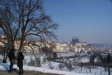 Free Tourists On A Tour Through Prague Royalty Free Stock Images - 23309359