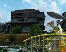 Free Oriental Garden Stock Photos - 23309713