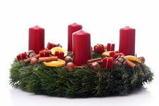 Free Christmas Wreath Royalty Free Stock Image - 23310626