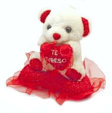 Free Teddy Bear With I Love You Pillow Stock Photos - 23311893