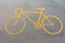 Bike Way Symbol Stock Photos