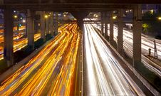Free Traffic In City At Night Stock Photography - 23313172