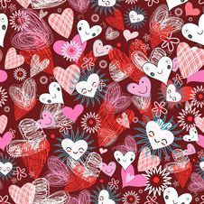 Free Pattern Of Hearts Royalty Free Stock Photos - 23313338