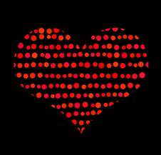 Conceptual Symbol Of Red Heart With Bubbles Royalty Free Stock Photo