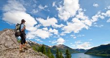 Free Woman Trekking In Mountains Royalty Free Stock Photo - 23313605