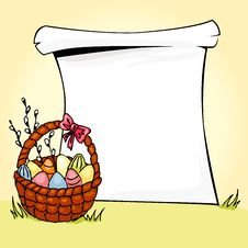 Free Easter Basket Royalty Free Stock Image - 23315086