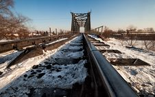 Free The Railway Bridge In Winter Stock Photos - 23316653