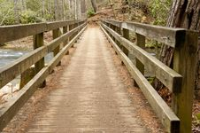 Free Wooden Bridge Over A White Water Stream. Stock Images - 23317614