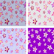 Free Aquilegia Flower Seamless Texture Stock Images - 23318264
