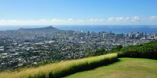 Free Panoramic View Of Waikiki Beach Royalty Free Stock Photos - 23318718