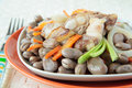 Free Beans Stewed With Pork Ribs, Carrots And Onions Royalty Free Stock Photos - 23323928