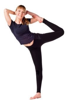 Beautiful Young Woman Doing Yoga Exercise Royalty Free Stock Image