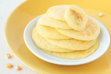 Free A Stack Of Pancakes Made ​​of Maize Flour Royalty Free Stock Photos - 23323708