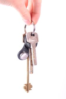Free Bunch Of Keys Isolated On White Royalty Free Stock Image - 23324626