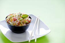 Free Bowl Of Rice Salad Royalty Free Stock Photos - 23327018