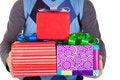 Free Present Gifts In Men&x27;s Hands Stock Photos - 23330993