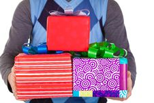 Free Present Gifts In Men S Hands Stock Photos - 23330993