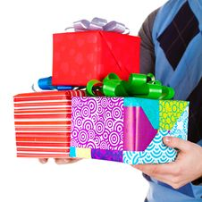 Free Present Gifts In Men S Hands Royalty Free Stock Photo - 23331015
