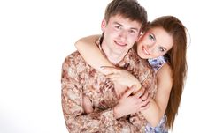 Free Loving Couple Embracing Stock Photos - 23331173