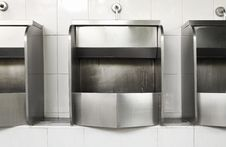 Free Stainless Steel Urinal Royalty Free Stock Photo - 23332385