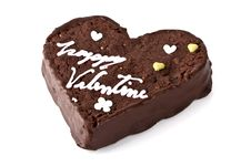 Free Heart Shaped Slice Of A Brownie Stock Photo - 23334040