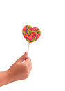 Free Isolated Hand Heart-shaped Lollipops Colorful Stock Images - 23347264
