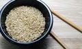 Free Rice In A Balck Bowl Royalty Free Stock Photos - 23347728
