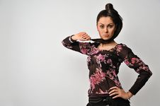 Free Woman With Beautiful Hair Stock Images - 23344004