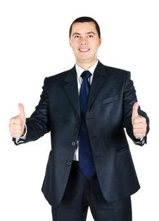 Free Portrait Of Businessman With Thumb Up Stock Image - 23344621