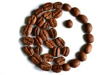 Free Yin-yang Symbol Made Of Coffee Beans Stock Photos - 23344953