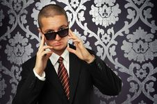 A Businessman With Sunglasses Stock Photo