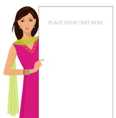 Free Girl Holding Blank Sign-isolated Stock Photography - 23347572
