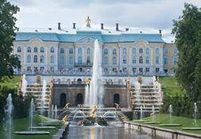 Free Grand Cascade In Pertergof,  Russia. Royalty Free Stock Photos - 23349358