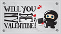 Free Ninja Valentine&x27;s Day Card Royalty Free Stock Photography - 23351057