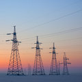 Free Electrical Mast At Morning Snow Stock Image - 23351461
