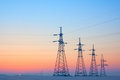 Free Electrical Mast At Morning Snow Stock Photo - 23351790