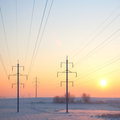 Free Frozen Industrial Sunrise Stock Photography - 23352982