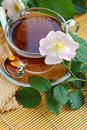 Free Tea With Dog-rose Blossom Royalty Free Stock Photos - 23353348