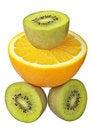 Free Kiwi And Orange Stock Photography - 23354652