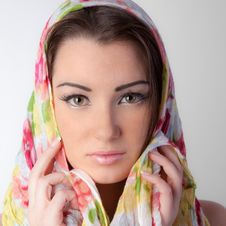Free Beautiful Face With Scarf Stock Photos - 23350363