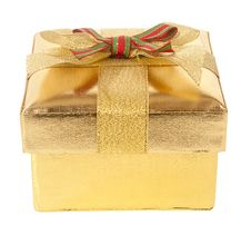 Free Gold Gift Box Stock Photography - 23350672