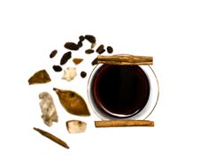 Free Mulled Wine, Cinnamon And Spices Stock Photos - 23352863