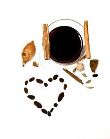 Free Mulled Wine, Cinnamon And Spices Stock Photos - 23352903