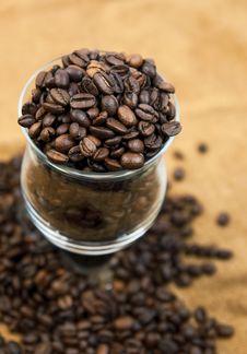 Free Grains Of Black Roasted Coffee Stock Image - 23353611