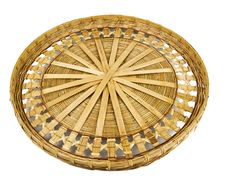 Wintage Willow Basket Stock Images