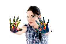 Free Colored Hands Stock Photo - 23354070
