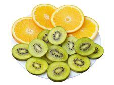 Free Kiwi And Orange Slices Stock Photo - 23354640