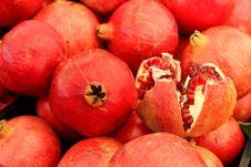 Free Pomegranates At The Market Stock Photo - 23361000