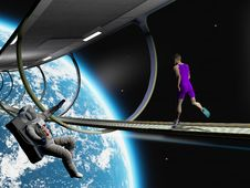 Free Run In Space Royalty Free Stock Images - 23361169